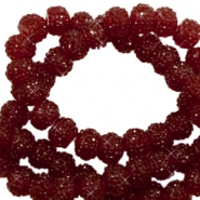 Sparkling beads 8mm Tawny port red