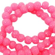 Sparkling beads 6mm Candy pink