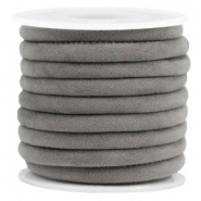 Trendy gesteppte Velvet Kordel 6x4mm Grey