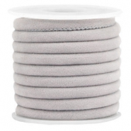 Trendy gesteppte Velvet Kordel 6x4mm Light grey