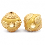 Bohemian Perlen 14mm Golden coast yellow-gold