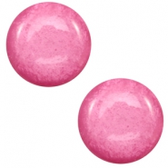 12 mm classic Cabochon Polaris Elements Mosso shiny Peonia pink
