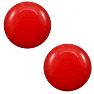 12 mm classic Cabochon Polaris Elements Mosso shiny Candy red